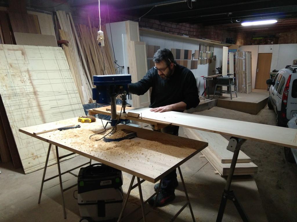 Armario empotrado de madera maciza medida