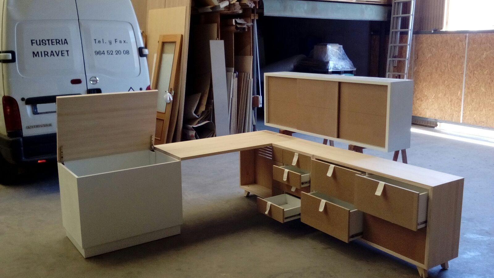Dormitorio madera a medida