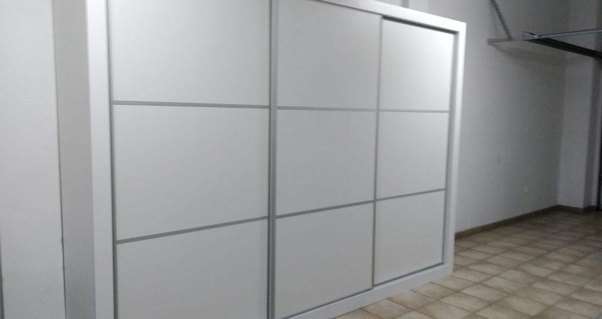 Armario puertas correderas melamina blanca Superman